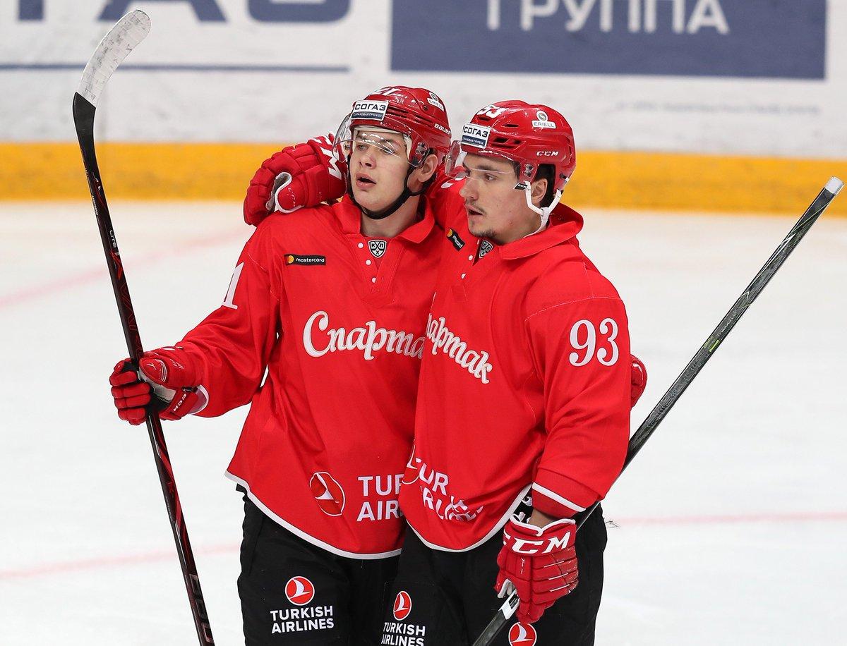 «Спартак» победил «Сочи» и гарантировал себе место в плей-офф КХЛ (Видео)