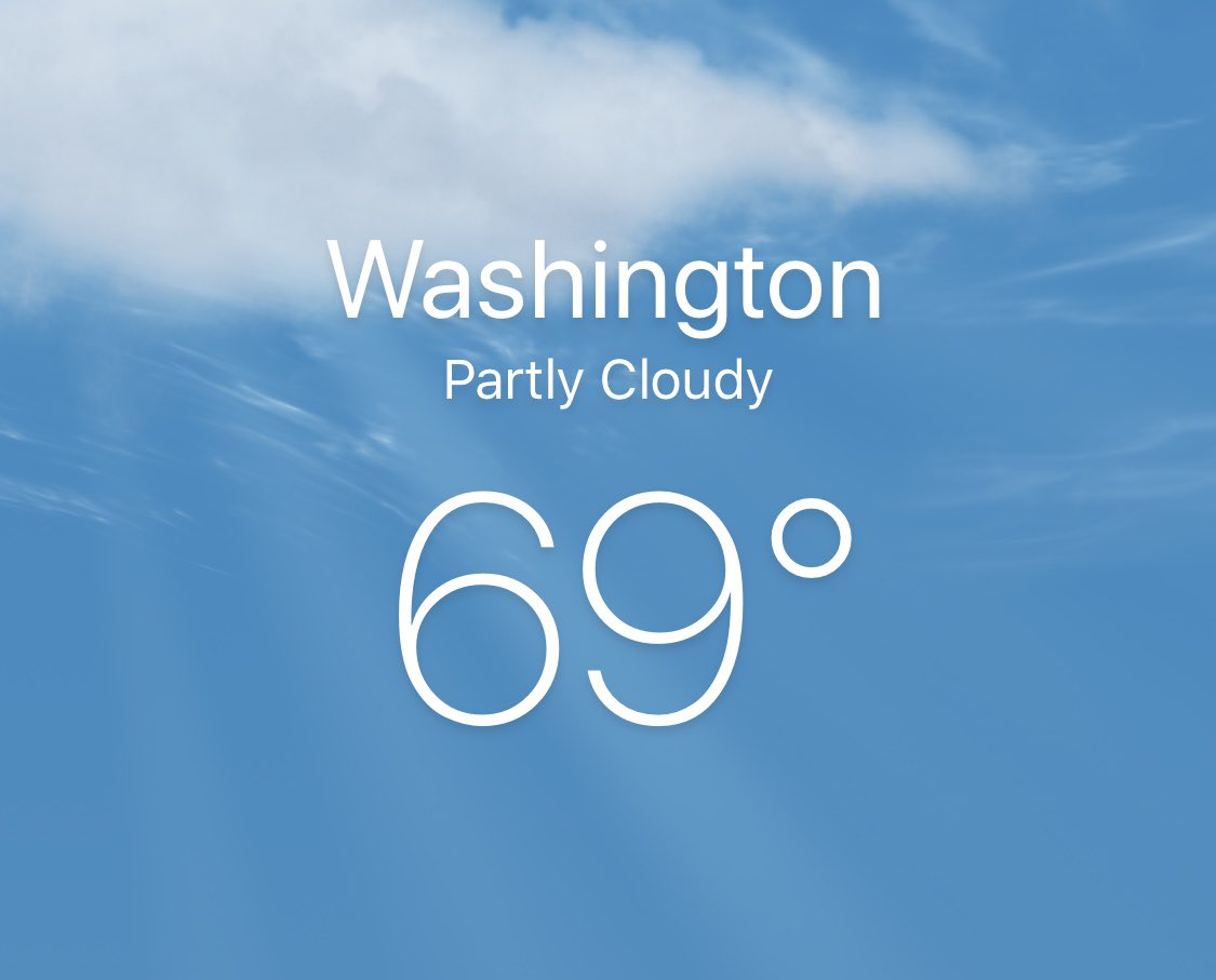 Dc Weather Same As Honolulu And It S Nicepic Twitter 6venwik96f