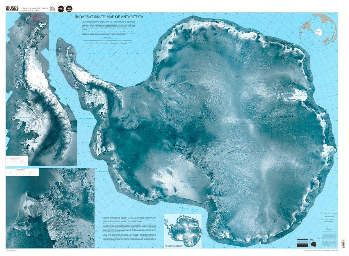 какое место по размеру занимает антарктида