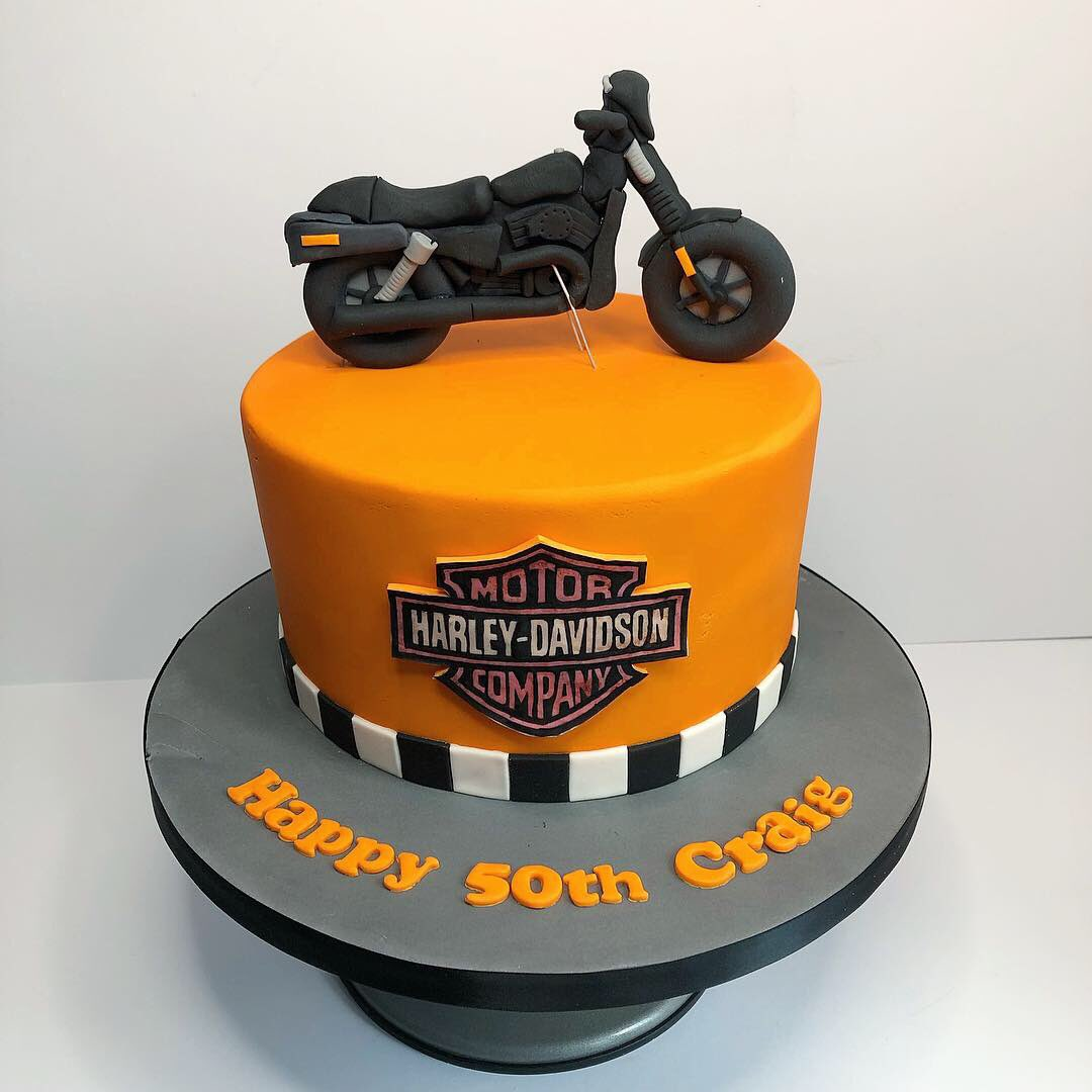 Pleasant Tidbits Treats On Twitter Harley Davidson Cake For Craigs Funny Birthday Cards Online Fluifree Goldxyz