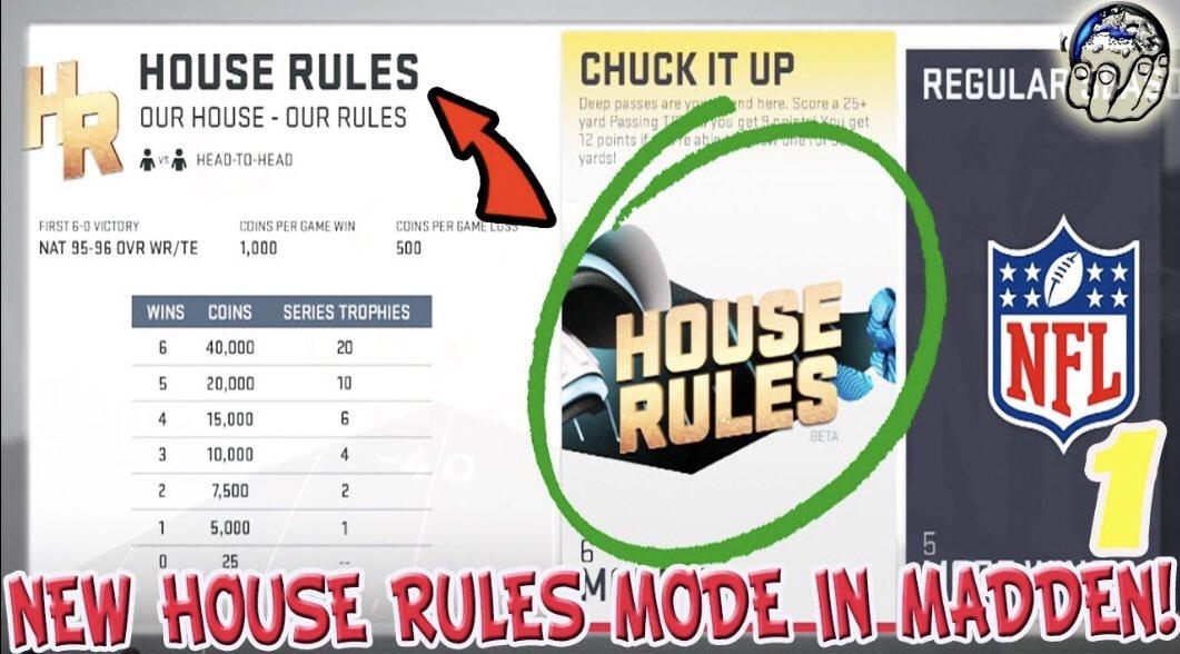 NEW Madden 19 Mode House Rules! 12 Pt TD! BEST Madden Mode! Madden