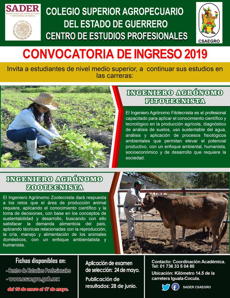 Convocatoria de ingreso 2019 🤩👨💻👩💻👩💼👨💼 #espírituCSAEGRO #AgrónomosCSAEGRO