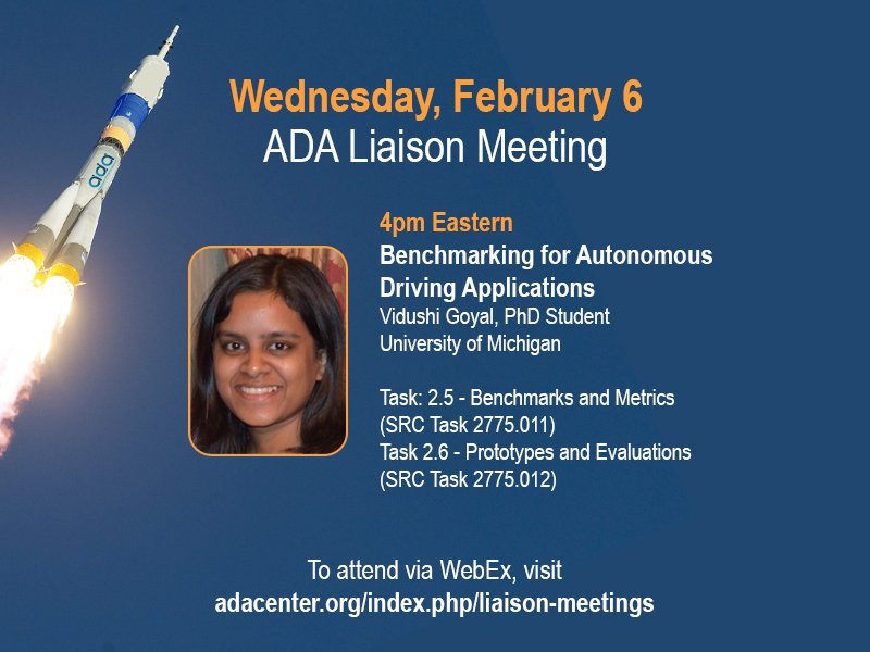 All ADA sponsors, PIs, and students invited.