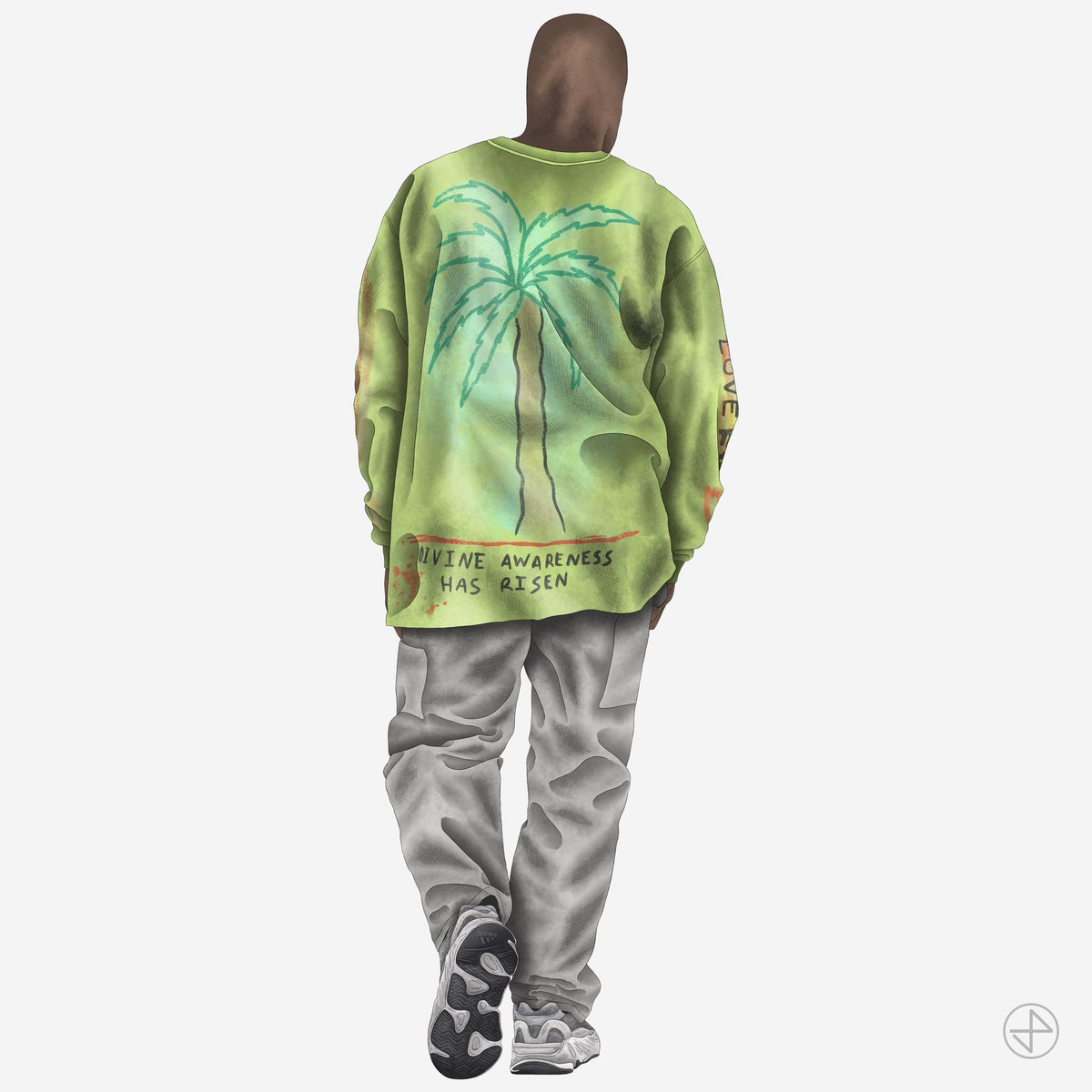"""#YEEZYFITOFTHEDAY is ye wearing the Wes Lang """"Wyoming"""" Long Sleeve with YEEZY BOOST 700 V2 """"Static"""" sketched by our brother @JordanPrileszky ✏️✨"""