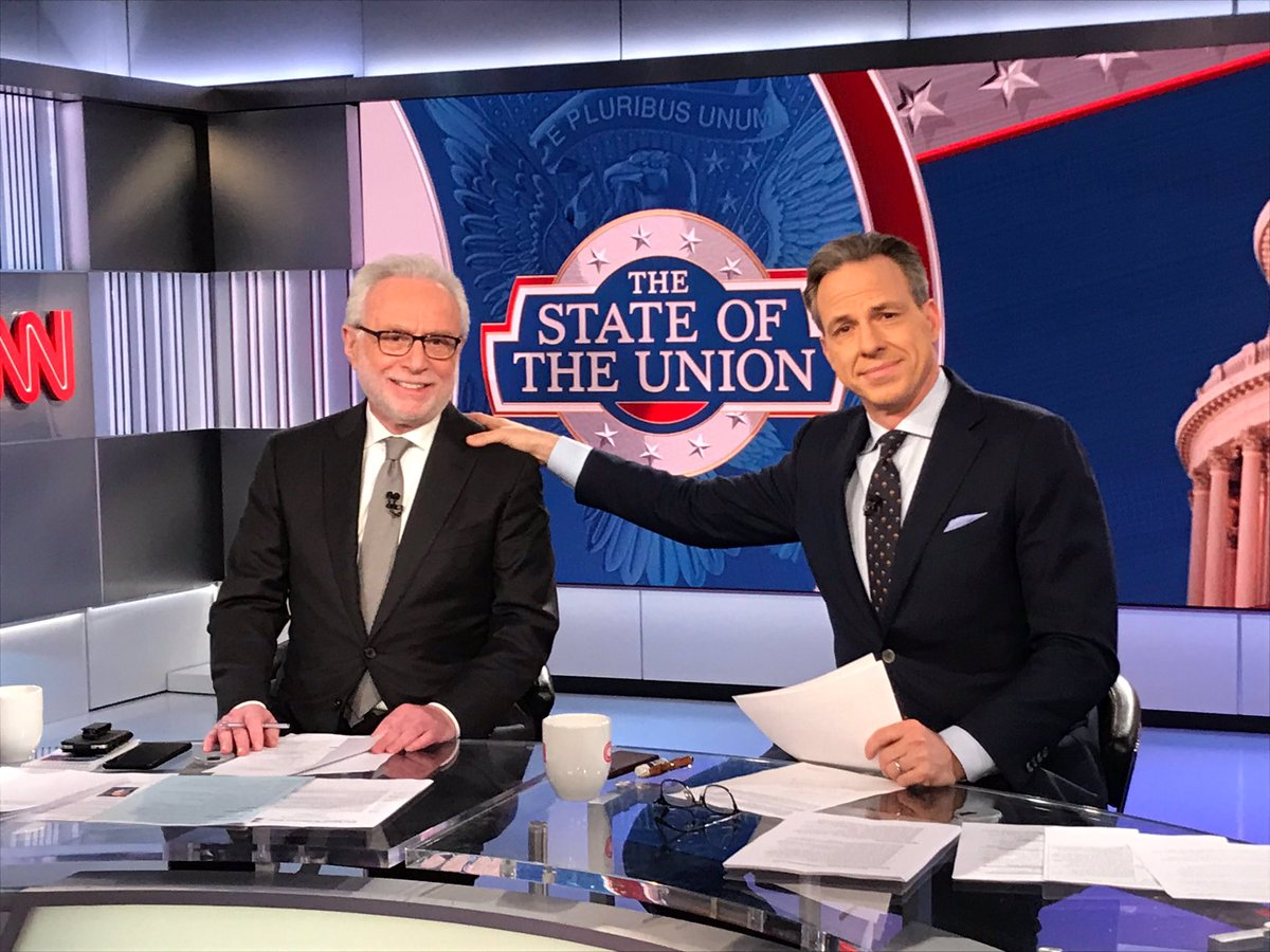 A big night in DC for President @realDonaldTrump who will deliver his State of the Union address. @jaketapper and I are ready. @CNN