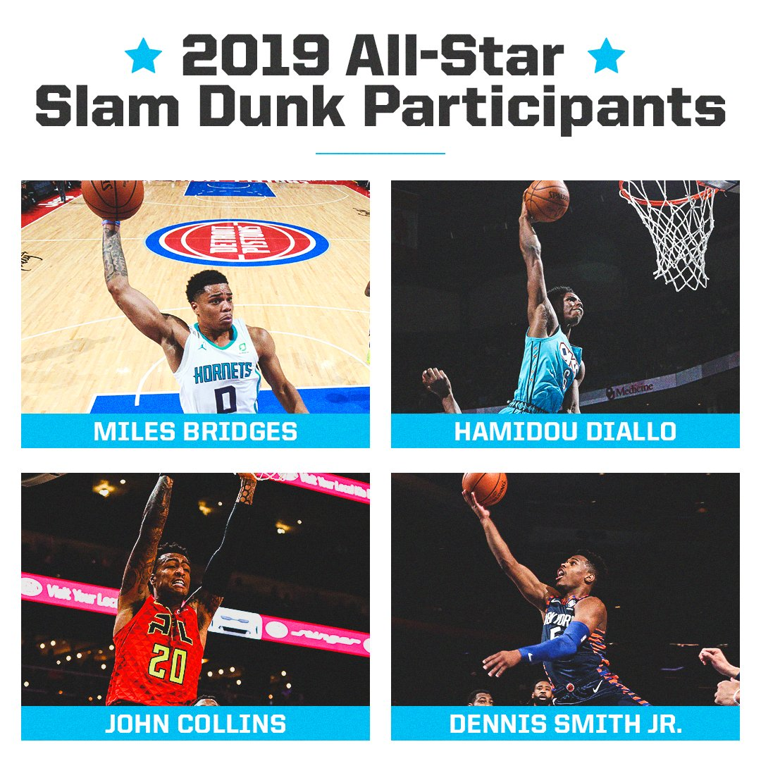 The field is set for the #NBAAllStar dunk contest! �� https://t.co/WKQ3b8YrXq