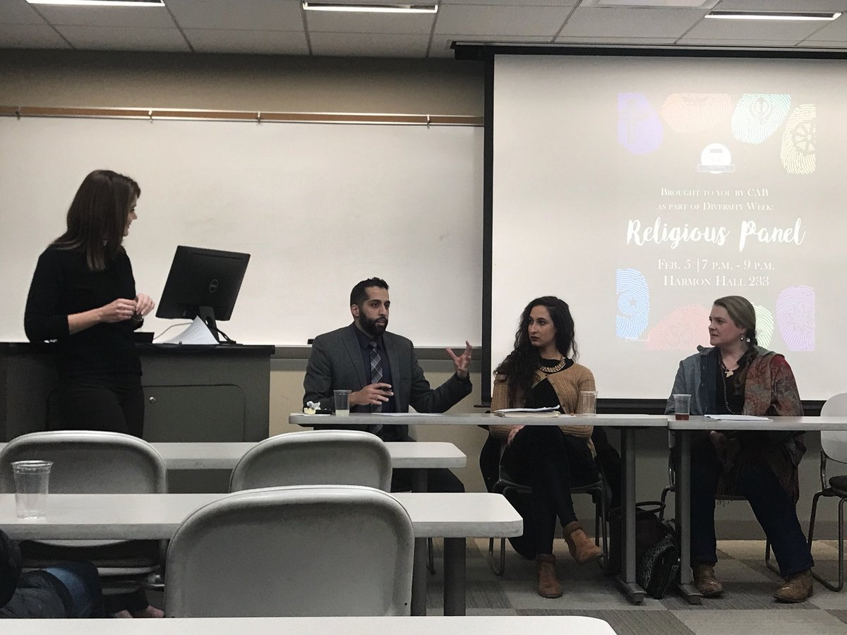 Come to Harmon, listen to four representatives from different religious organizations and learn more about the ways their religious identities inform their experiences #DiversityWeek #realexperience #realsuccess – at Harmon Hall - Lindenwood University