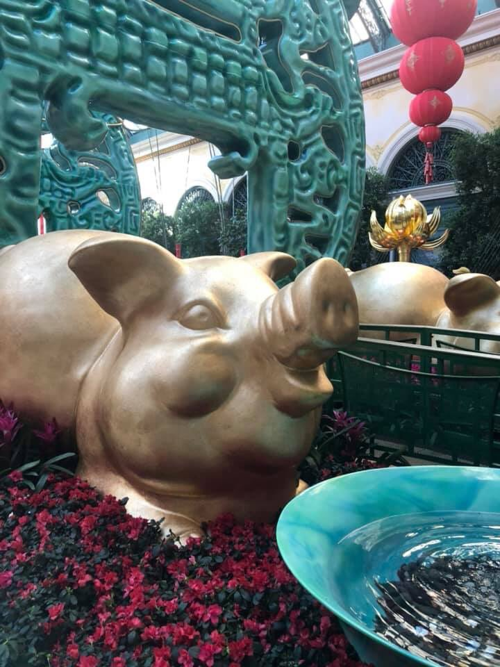 The Year Of Pig Is Being Celebrated Here At Bellagio Las Vegas Hotel Restaurant Furniture Liquidators Installation Hospitalitylogistics