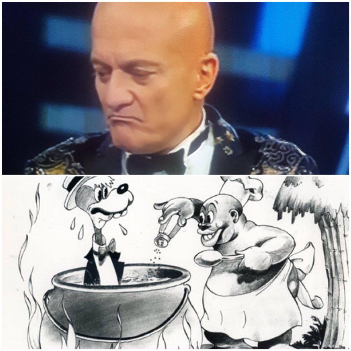 """Il monologo """"anti-razzista"""" di Bisio a #Sanremo2019: ecco come immagina lui gli africani, """"col pentolone a cantare Hakuna Matata"""". Per fortuna che era anti-razzista... 🤦🏾♀️"""