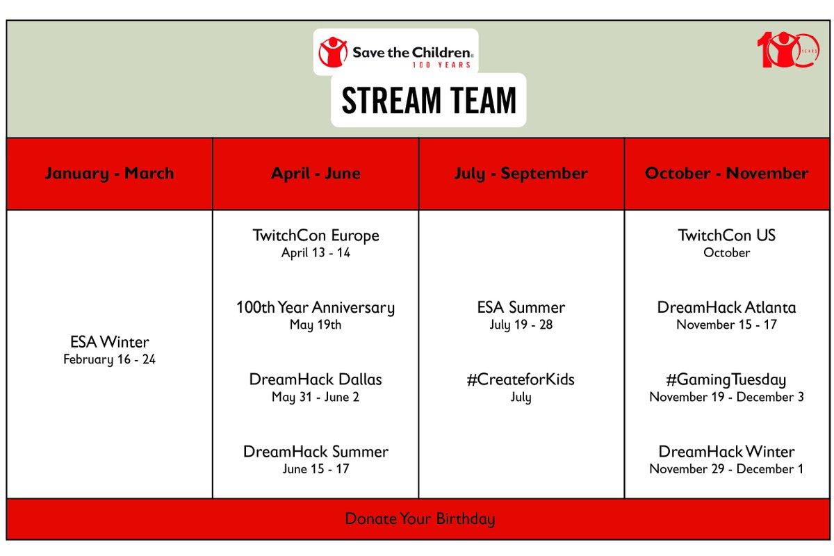 Save The Children Stream Team At Bealifeforce Twitter
