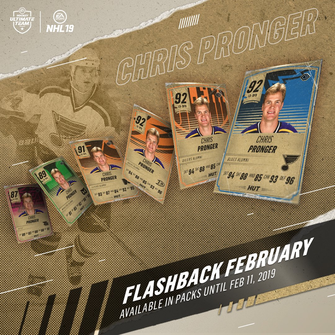 Add some 💪to your blueline.   RT for a chance to win a Chris Pronger flashback item!