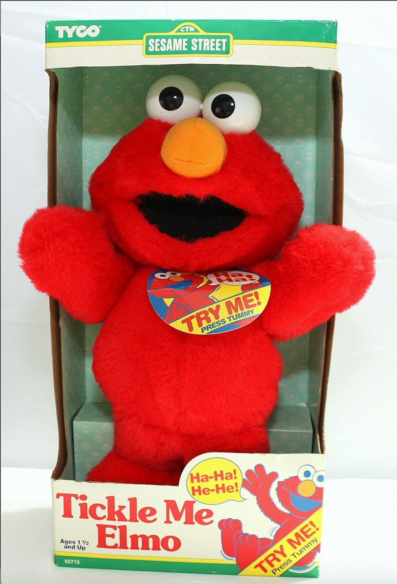 "Happy 50th anniversary @sesamestreet!   Feeling nostalgic? We have decades worth of toys and memorabilia from all your #SesameStreet favorites to explore! Who remembers the 1996 ""Tickle Me Elmo"" craze?! https://ebay.to/2RHhrEd"