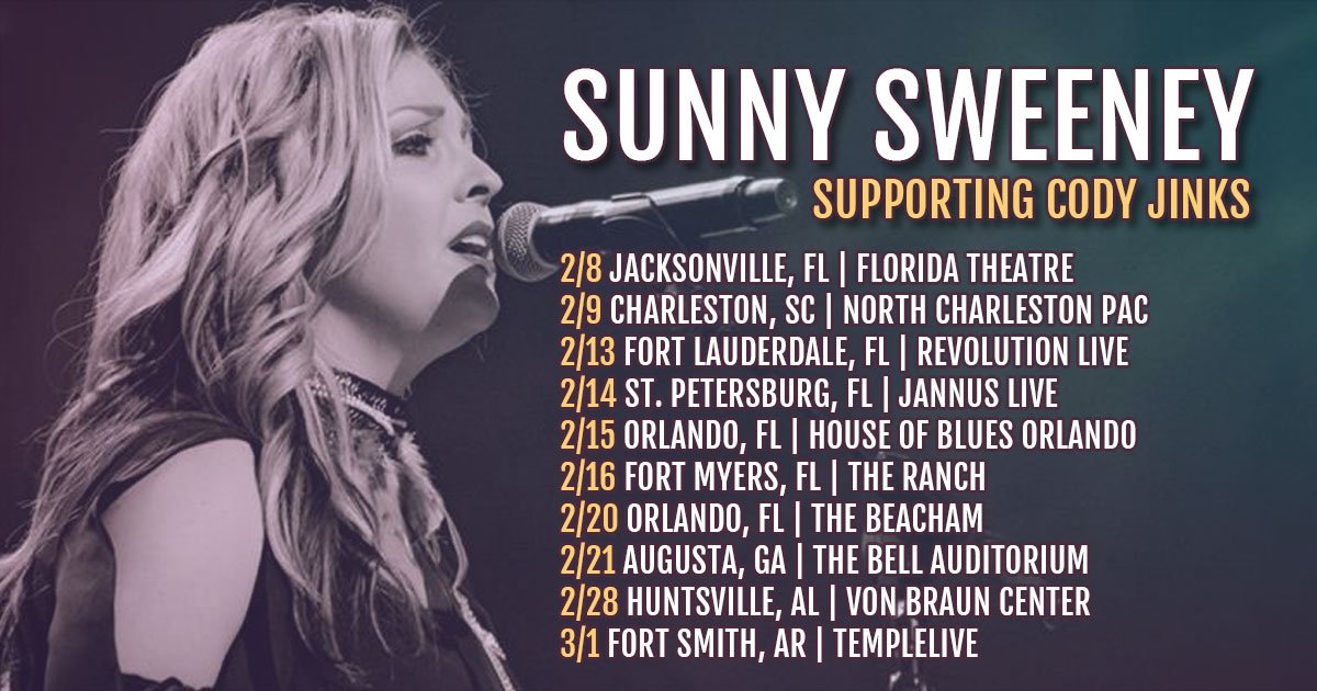 Kicking off the show for my pal @CodyJinksMusic  get your tickets here- https://sunnysweeney.com/tour/  you know you want to