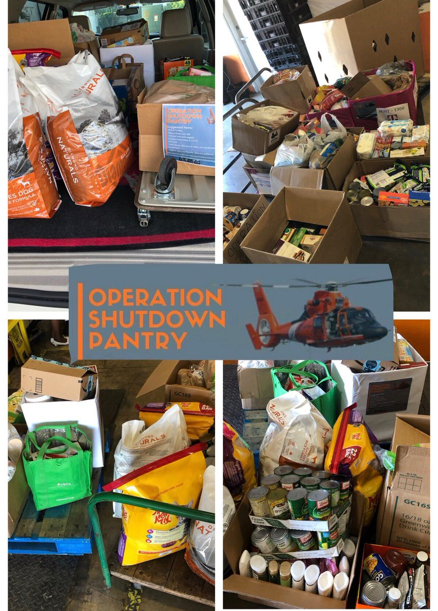 As our @uscoastguard employees were affected by the gov't shutdown, our @TMobile Stores in So. Florida collected over 630 lbs of food and supplies to help them through the difficult times. Thanks for all you do! @JonFreier @bnash001 @JohnLegere @SievertMike