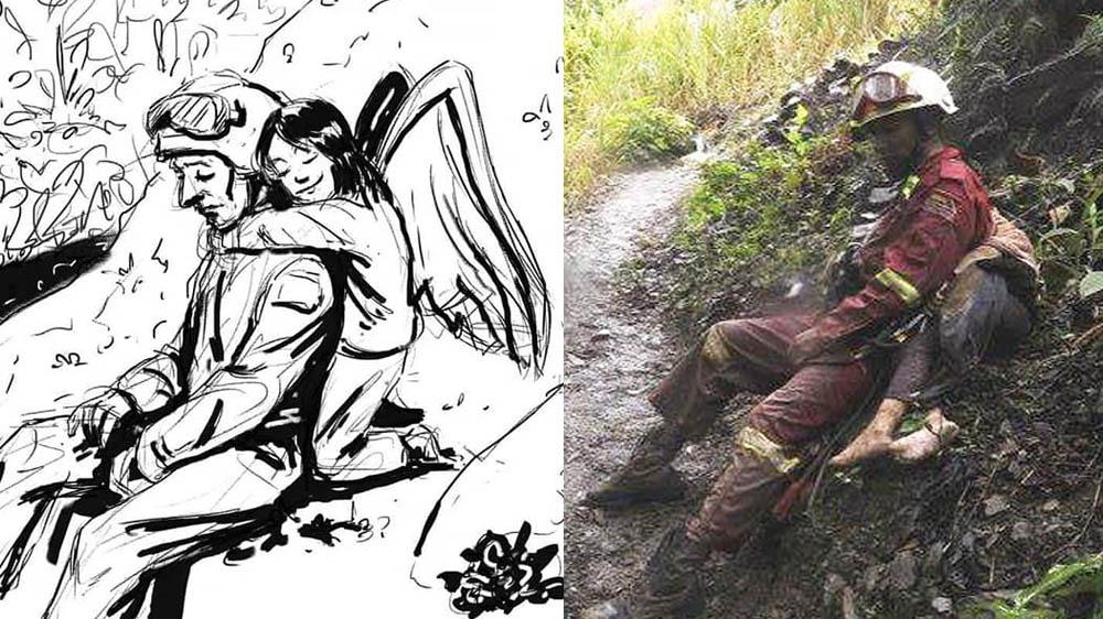 https://t.co/bFAkaBTUQa La ilustración que rinde homenaje a los rescatistas de Caranavi