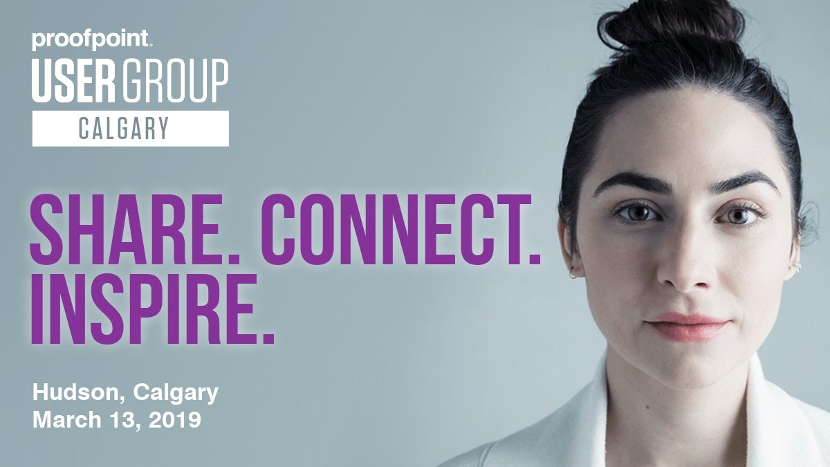 Join us at the Calgary @Proofpoint User Group!  You'll learn from some of the brightest minds in #cybersecurity & connect with your peers on how they are leveraging the power of Proofpoint. RSVP today https://go.proofpoint.com/ProofpointUserGroupCalgaryMar13?rbn=social…