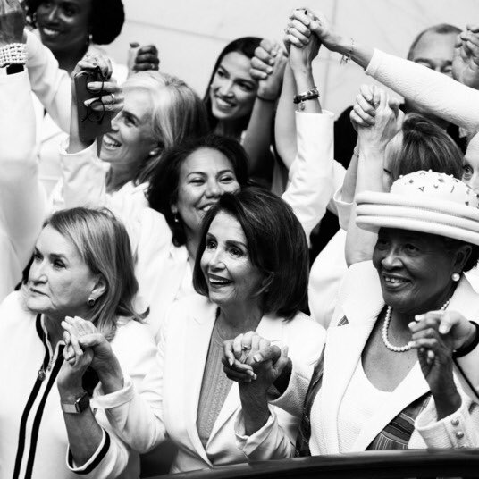 All these Democratic women in Congress rocking white for the State of the Union address gives me chills.  Also, I'm living for @TiffanyATrump in ALL WHITE! 😝  I feel like someday she's gonna write the craziest tell all book!   #SOTU⁠ ⁠