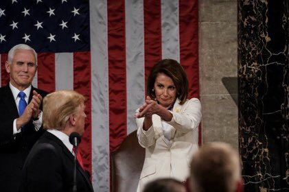 """Congrats to @SpeakerPelosi for inventing the """"fuck you"""" clap. #sotu"""