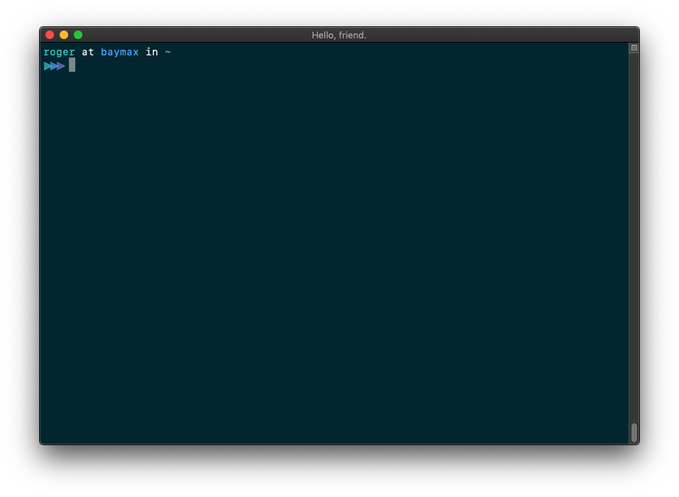 I found a cool new Unicode character (⫸) for my terminal prompt. 🤗