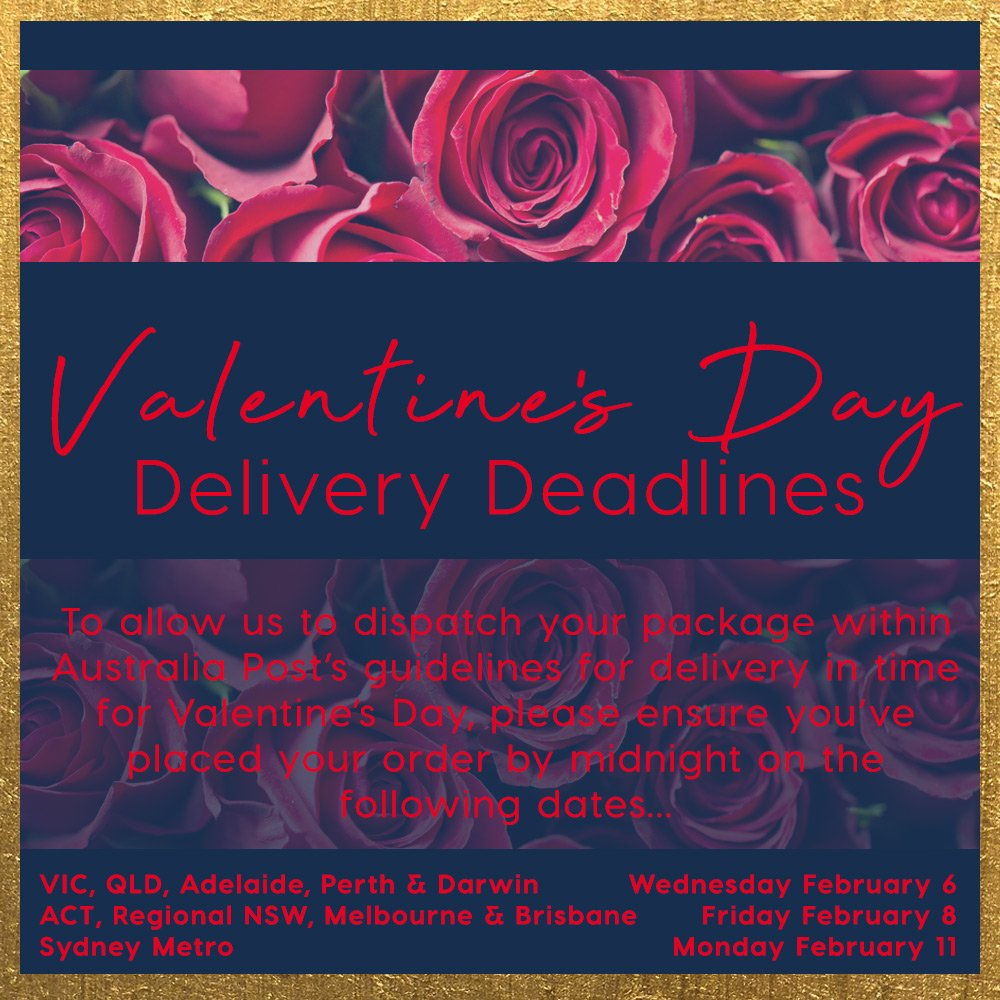 Peters Of Kensington On Twitter Valentine S Day Is Just Over A Week Away So Spoil That Special Someone With A Gift From Peter S Of Kensington See Below For Our Delivery Deadlines Across