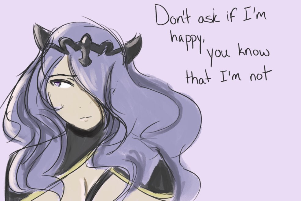 """""""Hope is a dangerous thing for a woman like me to have - but I have it"""" just reminds me a lot of Camilla  #fireemblem #fefates #fe14"""