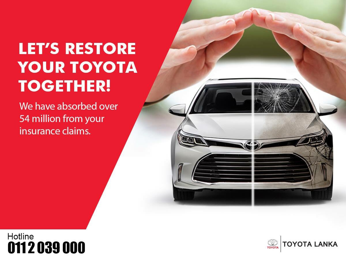 Do not worry about the burden of owner's account deductions, we will support you to settle the balance payment.  Visit Toyota Body & Paint Centre or Call us for more information 0112 039 000. https://t.co/Z1RkKP1RcF