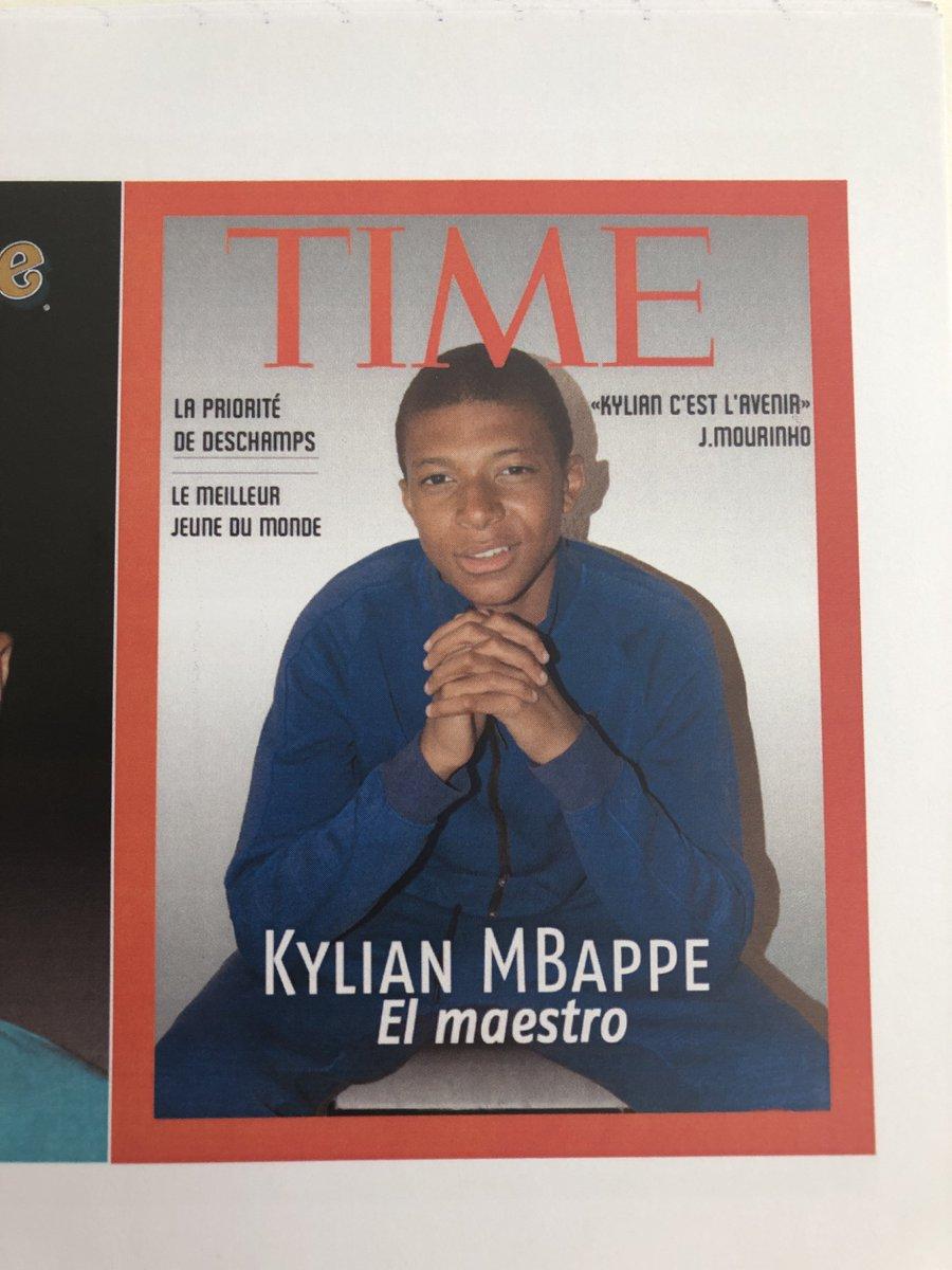 🔙 Tu te souviens @KMbappe quand on t'avait demandé en 2014 de te mettre en scène sur une couverture de magazine ? 👀 ----- #Time #Turfu #UniqueForever