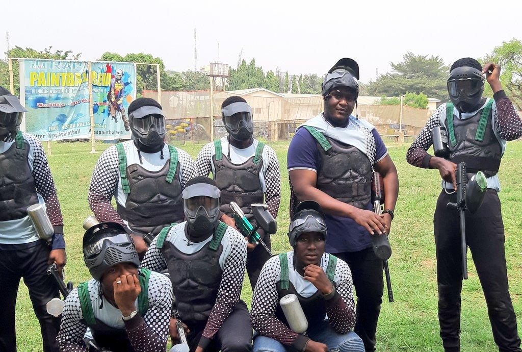 "There is no ""i"" in ""team"" #WeAreRapid #paintball #Abuja #Fun #action #battlegames #runhideshoot #adventure #extremesport #Weekday #squad #noretreatnosurrender #adrenalin #team #AbujaTwitterCommunity #WednesdayMotivation"