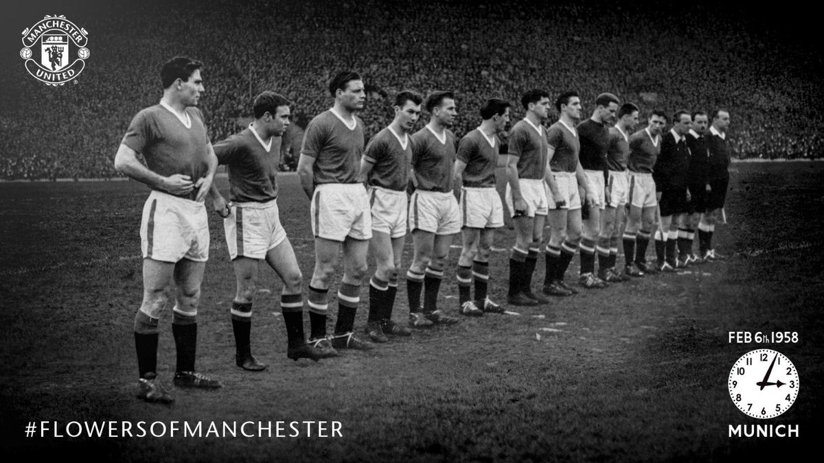 6th February 1958. We will never forget #FlowersOfManchester 🙏🌹