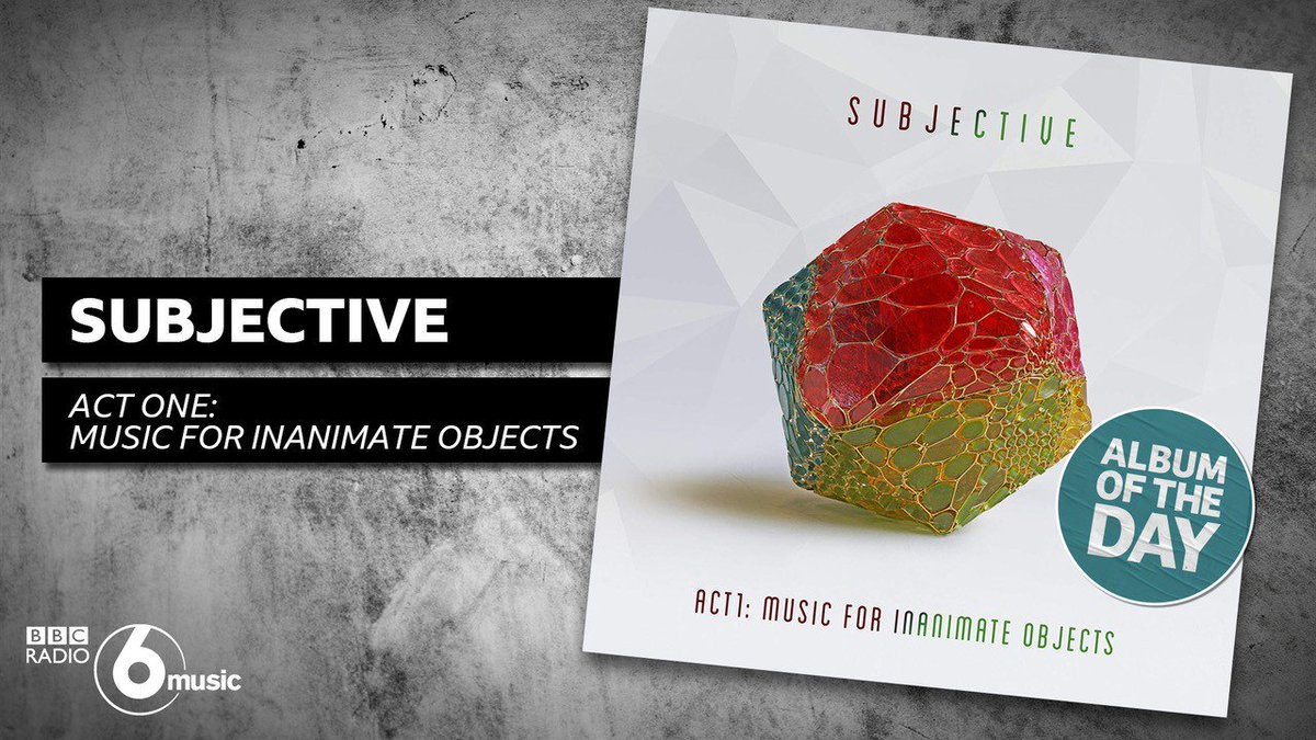Big shout-out to @BBC6Music for making ACT ONE – MUSIC FOR INANIMATE OBJECTS their album of the day! Tune in today to hear it play.