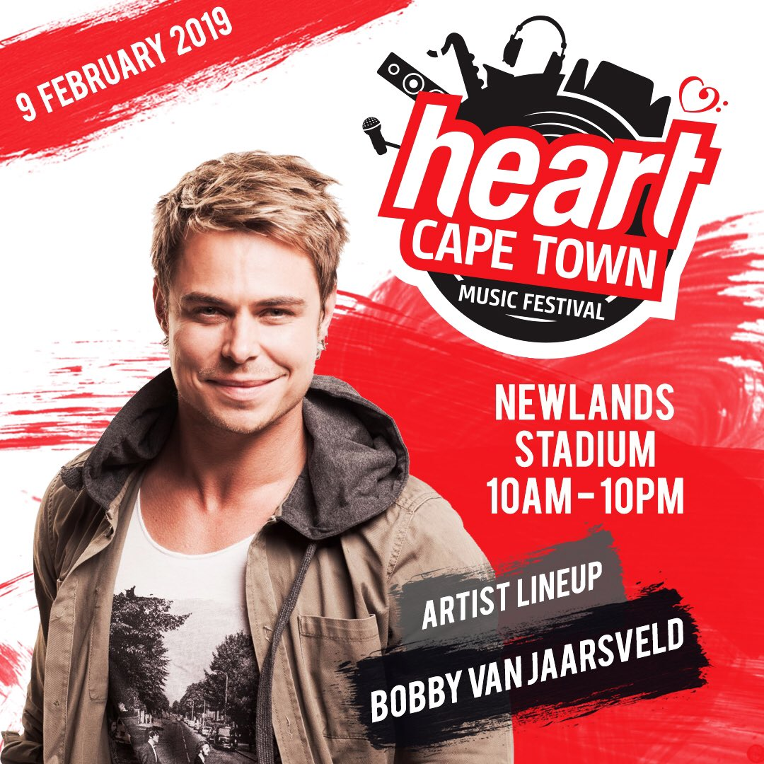 Welcoming to the stage for the FIRST time, Afrikaans singing sensation and @voicesa judge - @bobbyvjaarsveld 🎉🎉🎉 Did we mention that he is an actor too and was also voted as South Africa's sexiest male!😍 We can't wait to see what Bobby will be bringing to the #HCTMF2019