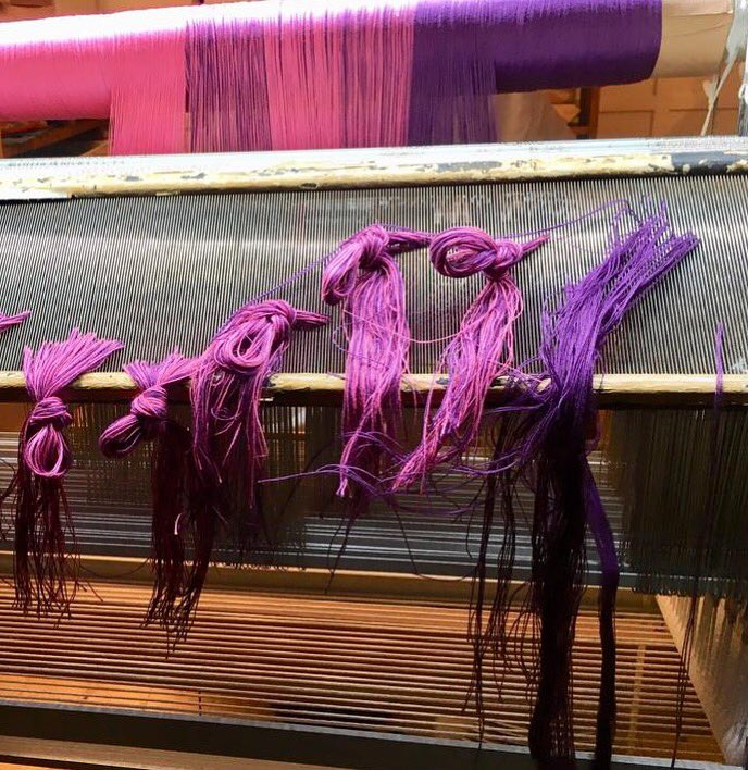 I was going to use a 24 dents per inch Reed with two ends per dent but I found that it wasn't quite wide enough for my warp plan, so this time, I have used a 16 Dents per inch reed from old stock with 3 ends per dent and it's going to work out just fine  #armtouch60 #weaver