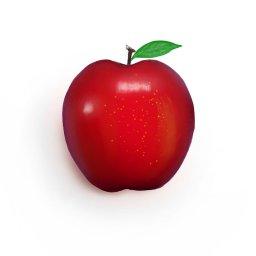 ペンキ 絵の練習 りんご 厚塗り分からん