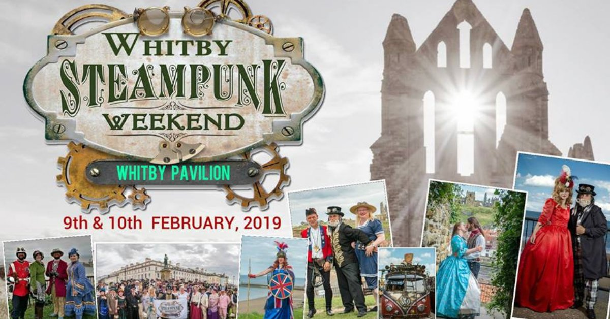 #Event Awesome of the Day: #Whitby #Steampunk ⚙️ Weekend #Cosplay 🎩 with @WSWHubcap (Sat 9 - Sun 10 Feb 2019) at @Whitbypavilion #UK 🇬🇧 via @DiscoverCoast #SamaEvent 📌 #SamaCosplay