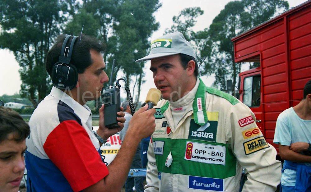 Eduardo Ruiz junto a Satriano @ruizeduardom TC La Plata 1991