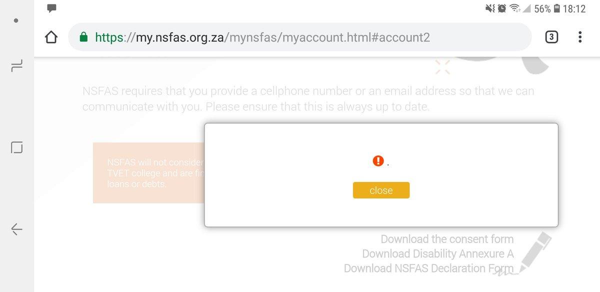 Www.mynsfas portal.co.za