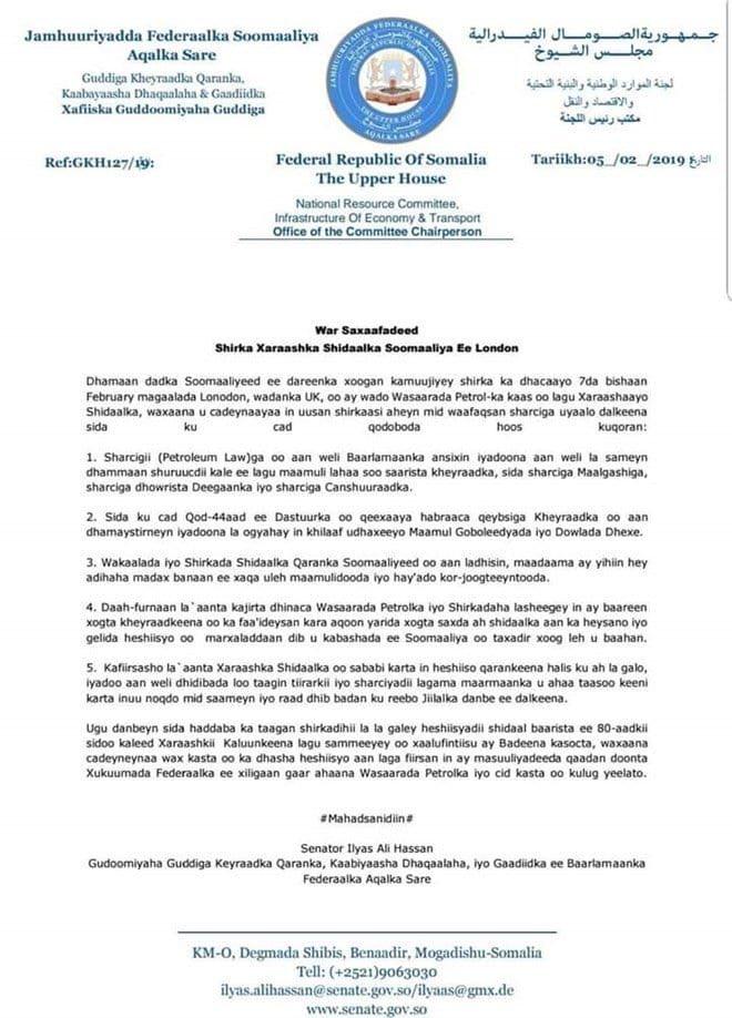 Radio Dalsan On Twitter Breaking Somalia Oil Licensing Bid Dives