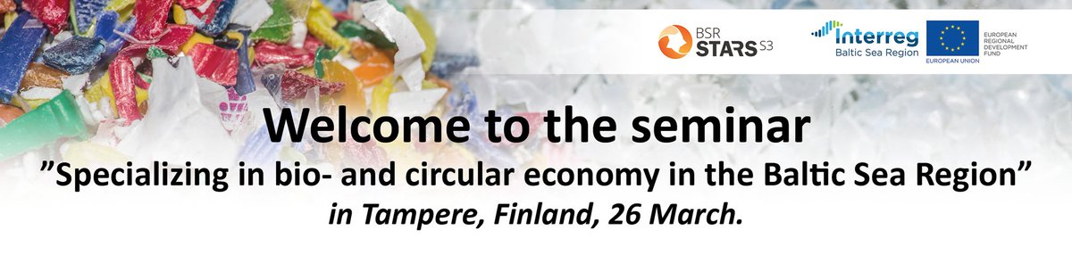 Curious about bio- and #circular economy opportunities and prospects for future #cooperation in the #BalticSeaRegion? Interested in how #Interreg helps make better use of limited resources? Attend an event by Interreg #BSR project @bsrstars to find out more!