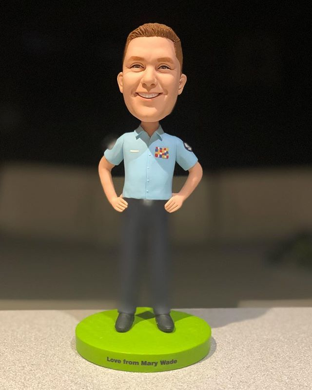 Got my little mate today. My final belated gift of many generous gifts from my awesome Mary Wade crew. He will sit on my desk at Cooma. Thank  you to you all!! #marywade #csnsw #workcrew #humbled #honoured  http:// bit.ly/2RHK04L  &nbsp;  <br>http://pic.twitter.com/mEcK0Tqglt