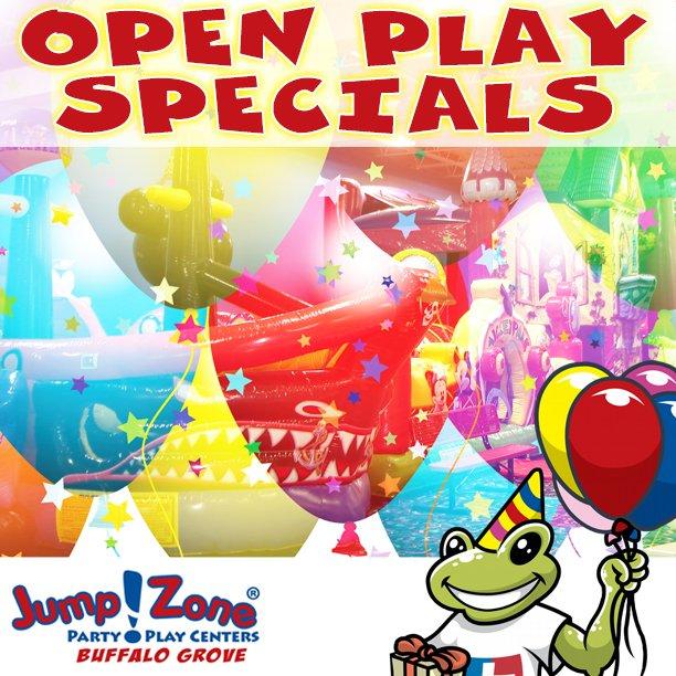 #OpenPlay Specials for the next 2 weeks at #JZBuffaloGrove - http://ow.ly/xAmG30nzJXF   #KidsSpecials #KidsPlay #IndoorPlay #IndoorPlayground #IndoorInflatables #ChildrenPlay #JumpFun #JumpingAround #HighJump #JumpingExercise #KeepWarm #PartyPlayCenter #PartyPlayKids