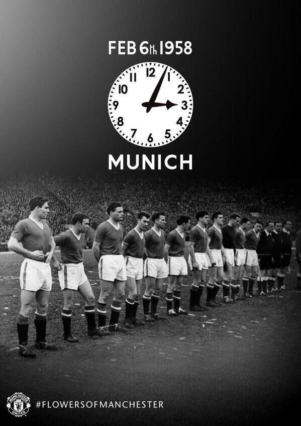 اليوم يصادف ذكرى كارثة ميونخ التي راح ضحيتها 23 من طاقم مانشستريونايتد في عام 1958 🙏🏼 .   #BusbyBabes