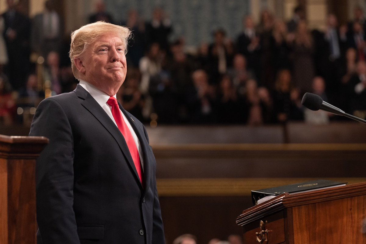President @realDonaldTrump rises to the occasion and brings Americans together behind a unifying message to choose greatness
