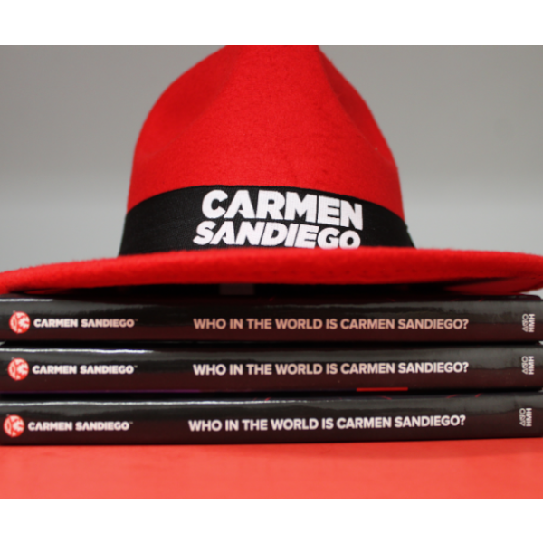 Join @HMHKids this Saturday, Feb 9th for capers, books, and swag at the B&N Kids' Book Hangout. Carmen Sandiego, the world's greatest thief and her new book will be featured. Visit http://barnesandnoble.com/h/bn-hangouts for more details #BNHangout #CARMENSANDIEGO!