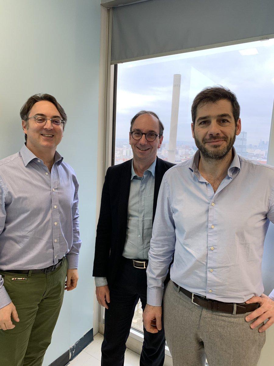 Les nouveaux administrateurs de la @nut_clinique (Prs S Czernichow, JP Durant et T Lescot) en flagrant délit de travail !