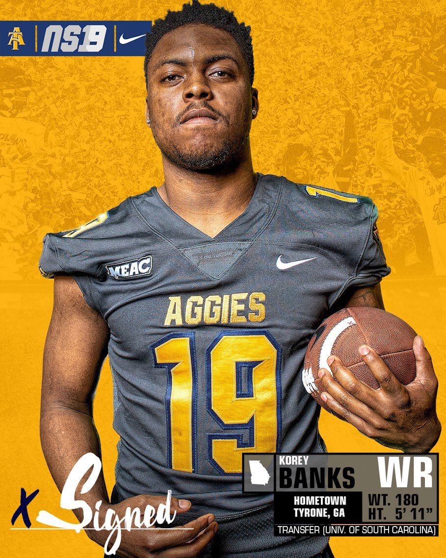 Officially 📝📨✅ @__KB7 Welcome to Aggieland 🏈🔥#AggiePride #NSD19 #NCATFBSigningDay