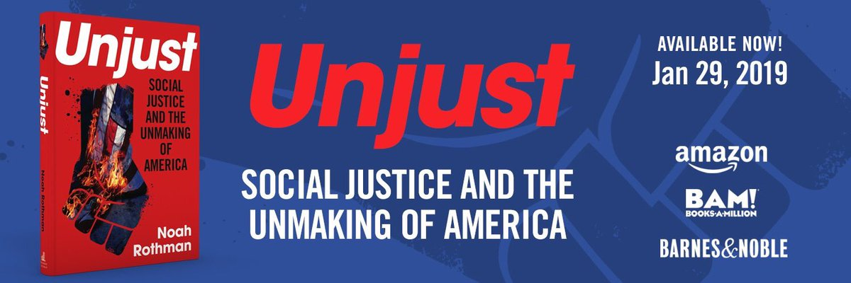 Social justice is now the enemy of blind, objective justice. It is identity politics in practice. It rejects objectivity and colorblindness. It disdains meritocracy and embraces genetic determinism. It must be rescued from its paranoid devotees. Here's how https://www.amazon.com/Unjust-Social-Justice-Unmaking-America/dp/1621577929/ref=zg_bsnr_3049211_1?_encoding=UTF8&psc=1&refRID=9Z0YCFH9JXR1JHSTAC08…
