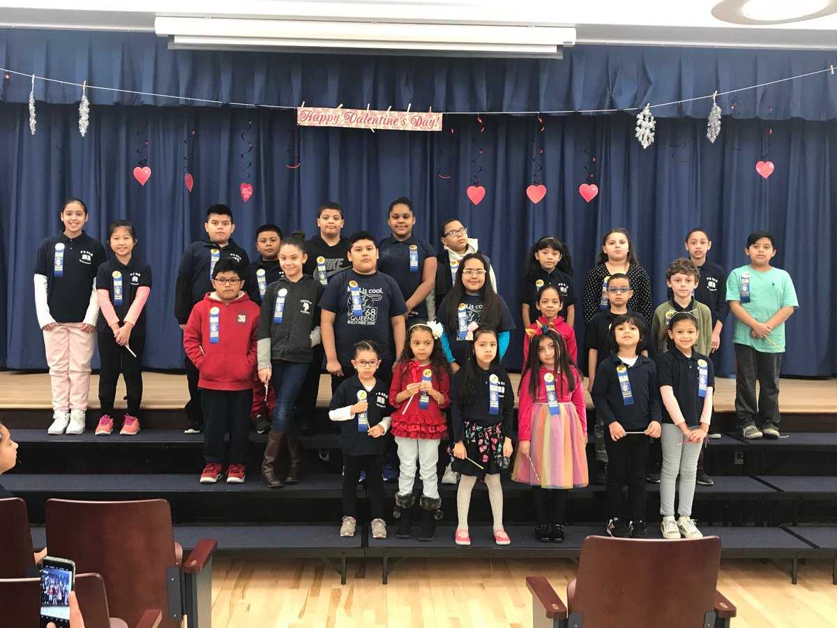 """Excellence Awards presented to PS 68  students by our PTA for their """"Persistence."""" #ps68q"""