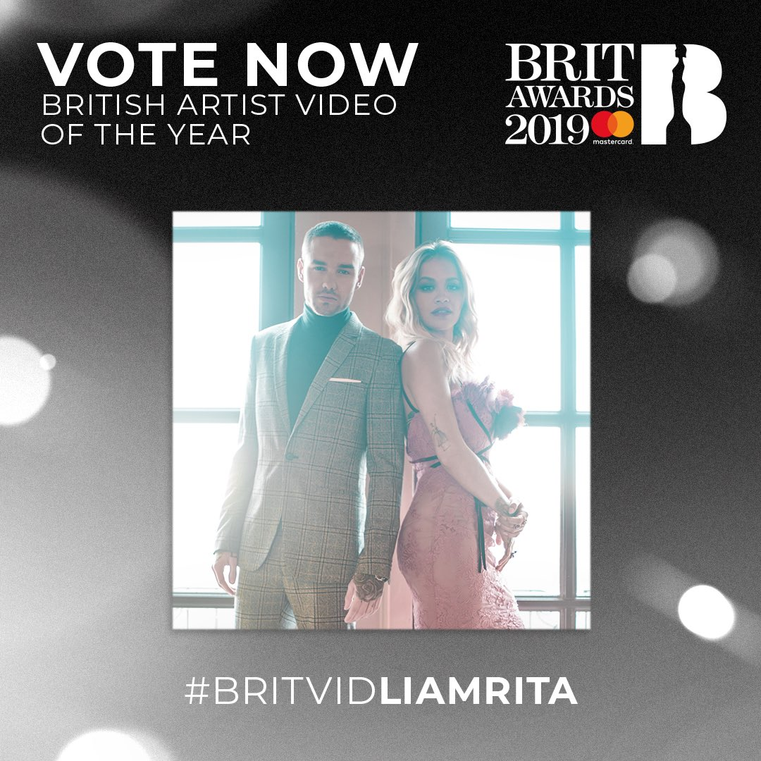 You guys are the best! Don't forget to keep voting me and @LiamPayne for the @BRITs ! Tell all your friends lets WIN this together! #BRITVIDLIAMRITA ❤️🙌🏼
