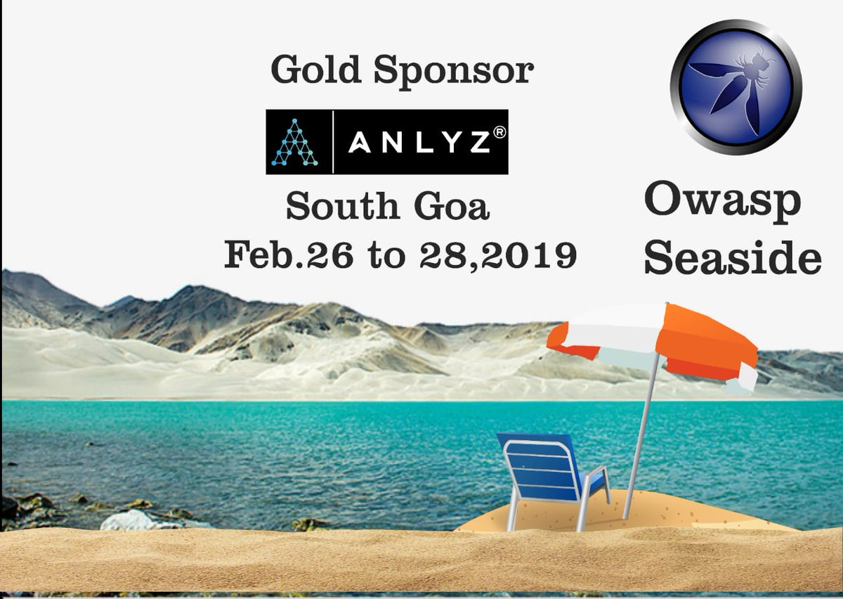 We want to thank  @AnlyzInc  for sponsering @Owaspseasides and encouraging young security enthusiast  #seasides #owaspseasides #infosec