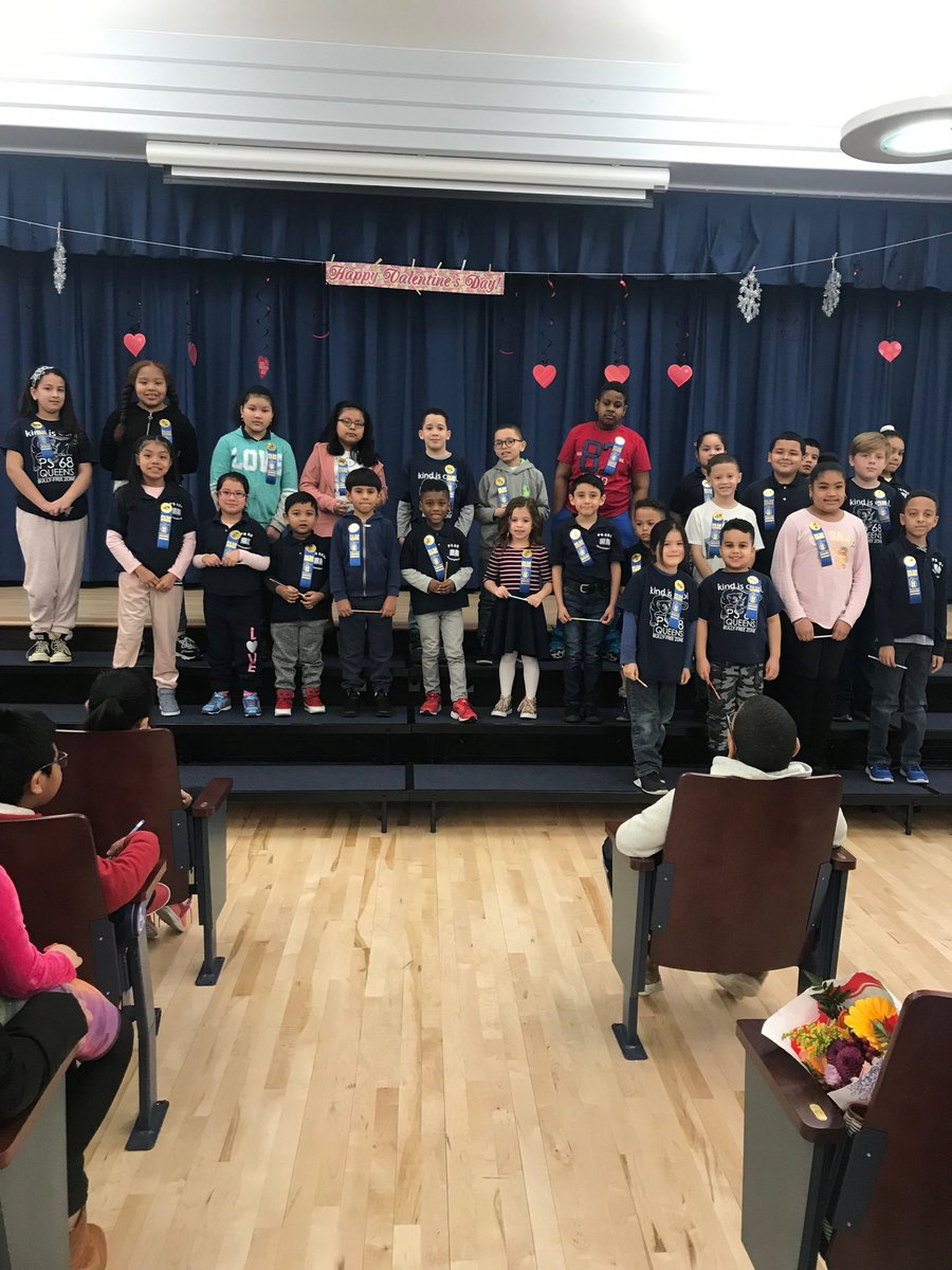 Awards for Persistence and Kindness given to our students by the PTA #ps68q
